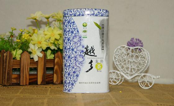 杭州龙井集团茶叶铁盒出自越越辉之手