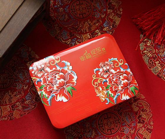 幸福绽放喜糖盒|中国风喜糖铁盒