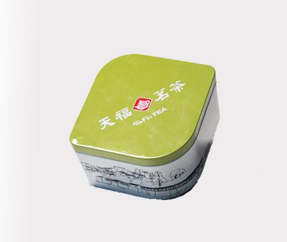 天福茗茶茶叶罐|优质绿茶铁片盒|经典茗茶茶叶铁盒
