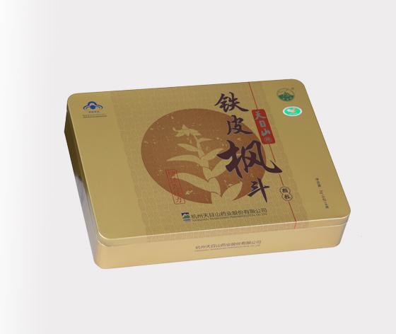 天目山铁皮枫斗铁盒|高档保健品盒子