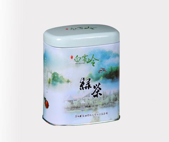白雾岭绿茶铁盒|绿茶茶叶铁罐