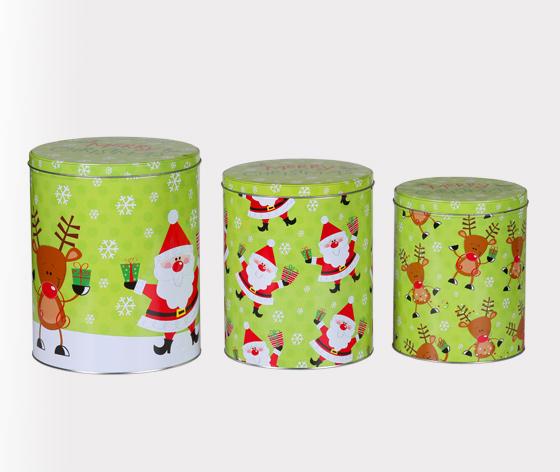 精美圣诞礼品铁皮罐|圣诞老人礼品包装盒生产