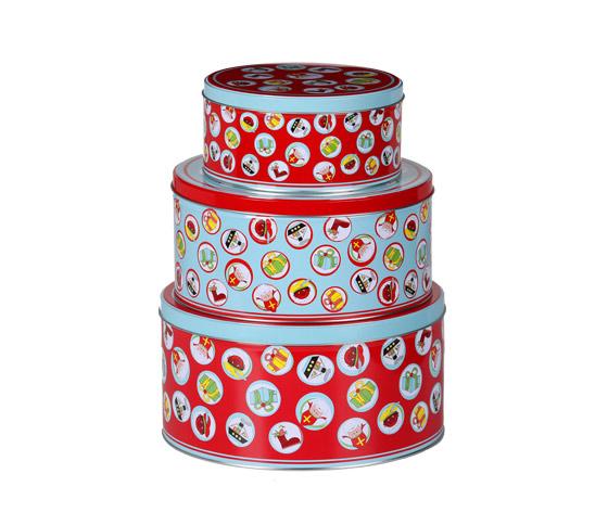 圆形通用礼品罐包装|厂家定制圣诞礼品铁罐