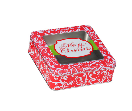 圣诞礼品铁罐|高档铁盒生产厂商