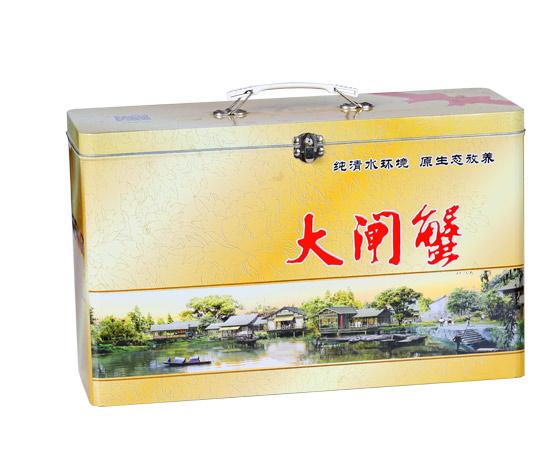 海鲜产品铁盒|大闸蟹包装铁盒