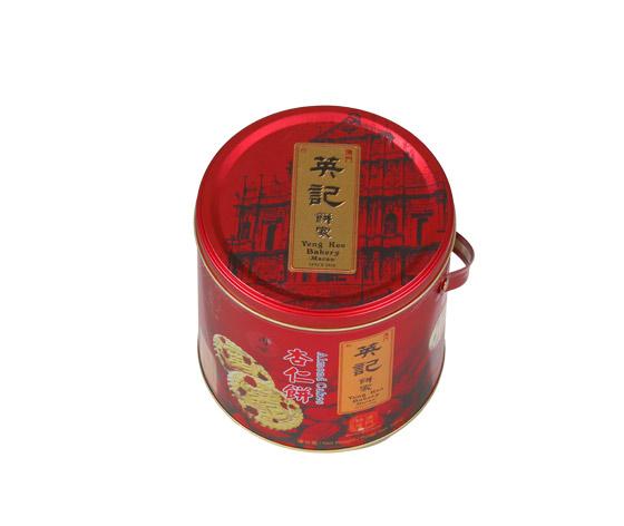 食品铁罐|杏仁饼铁罐|圆形饼干铁盒