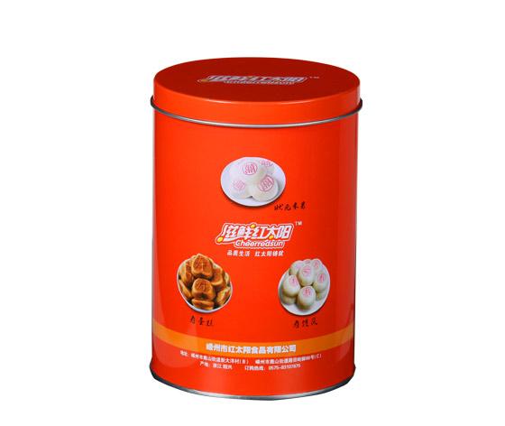 食品铁罐|巧克力蛋卷包装铁罐子|圆形蛋卷铁盒生产