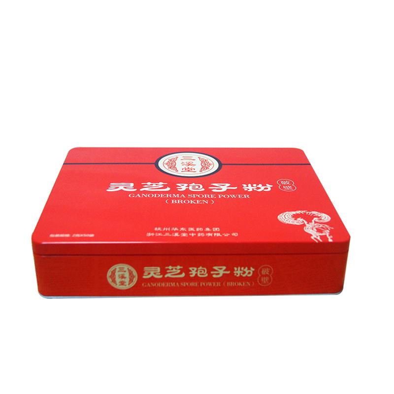三溪堂灵芝孢子粉铁盒|马口铁粉末包装盒生产
