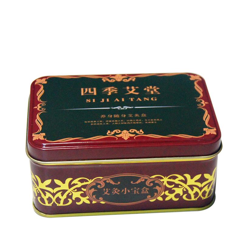 四季艾堂针灸铁盒|马口铁医药包装盒