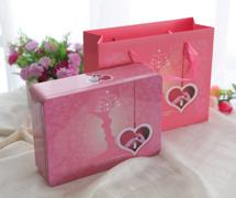 约定喜糖盒|长方形礼品盒配手提袋马口铁糖果盒