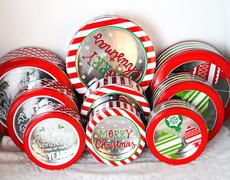 圣诞礼品铁盒/外贸罐/马口铁圆罐/糖果罐/食品罐/厂家直销