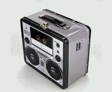 午餐铁盒/收音机音响铁盒/手拎铁盒