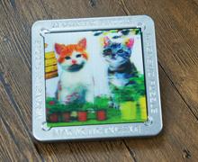 正方形卡片磁玩铁盒