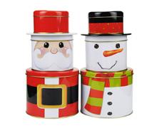 多款三层圣诞套罐铁罐生产厂家