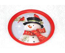 马口铁圣诞水果铁盘托盘圆盘