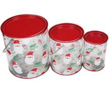 圣诞套罐/外贸铁罐/pvc铁罐/铁罐