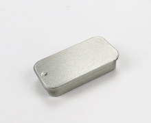 推拉抽屉式滑盖马口铁盒/化妆品唇膏铁盒