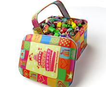 手工糖果切片礼品手拎铁篮子铁盒包装