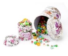 手工切片糖果铁罐/蘑菇头糖果马口铁罐
