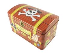 海盗船创意宝箱铁盒收纳储物盒